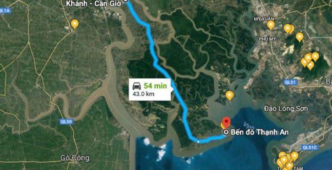 Đường đi đảo Thạnh An Cần Giờ